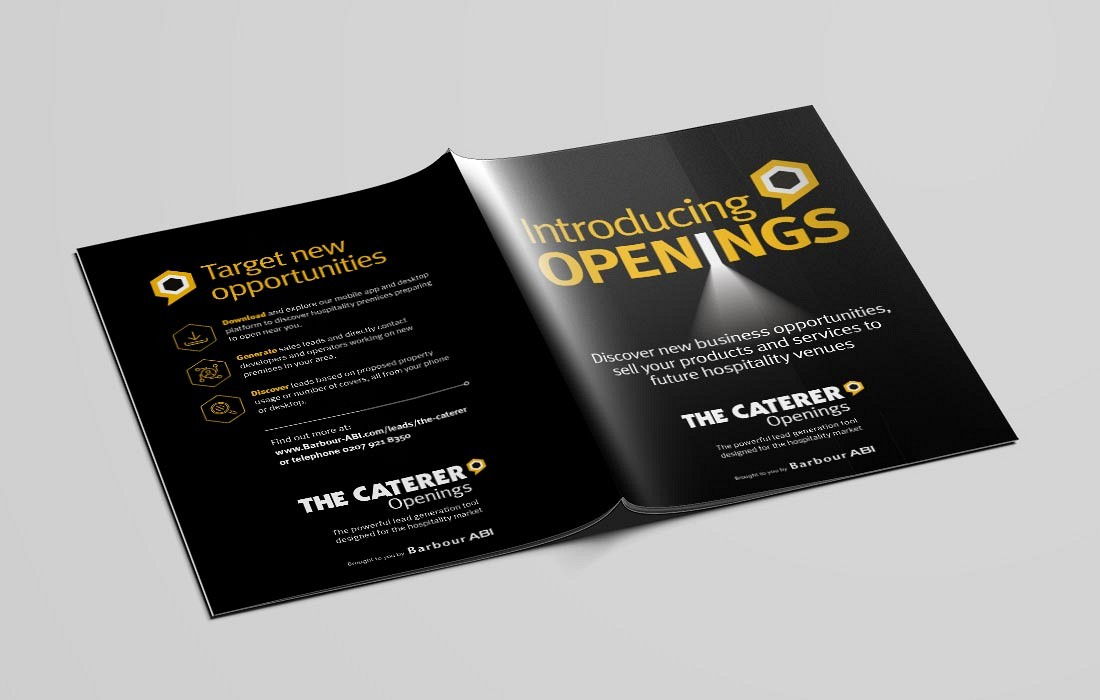 Openings, The Caterer, Leaflet